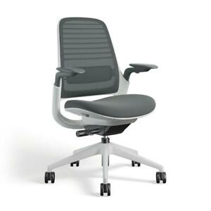 Steelcase Series 1 Task Chair 3d Microknit Graphite Seagull