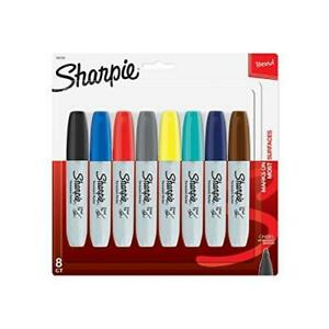 Sharpie Permanent Markers Broad Chisel Tip 8 pack Assorted 2015 Colors