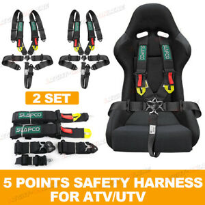 Pair Racing Safety Harness Set For Atv Utv 5 Point Safety Harness For Kids Adult