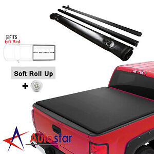 Lock Soft Roll Up Tonneau Cover For 2005 2015 Toyota Tacoma 6ft 72 Short Bed