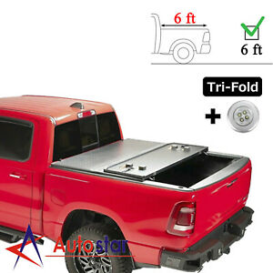 6ft Lock Hard Tri fold Tonneau Cover For 2016 2020 Toyota Tacoma Truck Bed