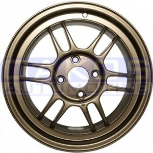 Enkei Rpf1 Wheels 16x8 38mm 4x108 Single Bronze Rim For Fiesta St