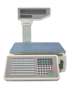 New Commercial 33lb Digital Price Computing Food Scale Thermal With Printer