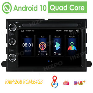 Android Head Unit For Ford F150 Edge Explorer Mustang Expedition Car Stereo 64gb