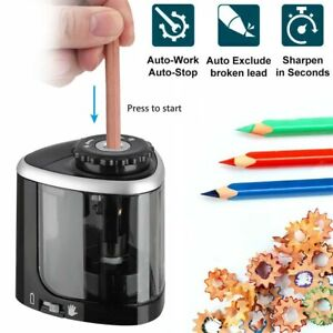 Electric Automatic Pencil Sharpener Safe Student Helical School Office Classroom