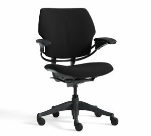 Humanscale Freedom Task Swivel Desk Chair black Vellum