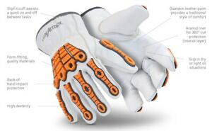Hexarmor 4060 Leather Safety Gloves With Impact Protection X large