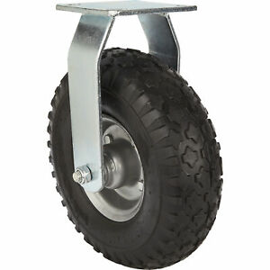 Strongway 10in Rigid Flat free Rubber Foam filled Caster 300lb Cap Knobby Tread