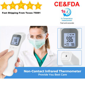 Non Contact Infrared Themometer Digital Lcd Temperature Gun Medical Fda Adult