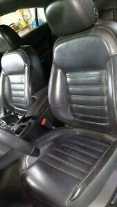 2013 Buick Regal Gs Leather Seat Set Front Rear Black W White Stitching