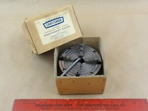 Excellent 4 Craftsman 111 21406 Reversing 4 Jaw 6 618 Lathe Chuck 10 Tpi Box