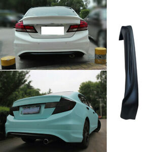 For Honda Civic 9th 2012 2013 Matte Black Rear Bumper Diffuser Spoiler Bodykit