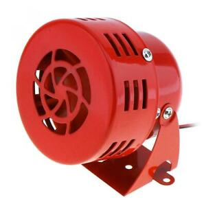 12v Car Truck Motorcycle Driven Red Air Raid Siren Horn Alarm 110db Heavy Duty