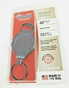 Key bak Ratch it Retractable Ratcheting Tether With 48 Cord 10 Oz Retractable