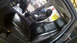 08 14 Gmc Sierra Denali silverado Black Leather Seat Set front rear Crew Cab