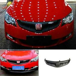 For Honda Civic 2006 2007 2008 Black Front Center Mesh Grille Grill Cover Trim