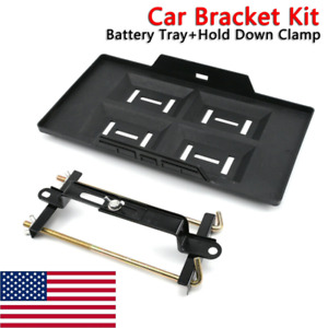 Universal Car Storage Battery Holder Stabilizer Metal Rack Mount Bracket Stand