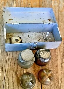 Vtg Antique Ford Model A T 1920 S Axle Dust Grease Radiator Hub Caps Box Chest