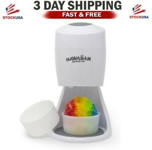 Hawaiian Shaved Ice S900a Shaved Ice Snow Cone Machine 120v White
