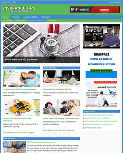 Insurance Guide Website Business For Sale Work From Home Internet Business