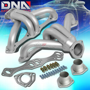 For Chevy Sbc Small Block Hugger Shorty Stainless Header Manifold exhaust Silver