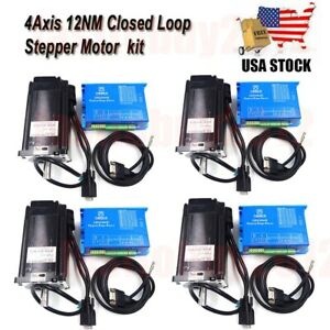 1 2 3 4axis 1712oz in Closed Loop Stepper Motor Nema34 Driver For Cnc Milling