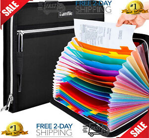Fireproof Waterproof Safe Expanding File Folder Accordion Document Organizer 24