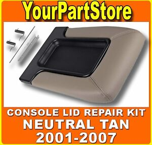 Chevy Silverado Front Seat Center Console Armrest Lid Neutral Tan Beige 52i
