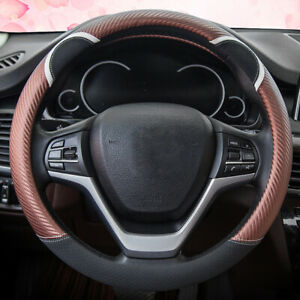 Leather Car Steering Wheel Cover Good Grip Car Accessories Protection Cover