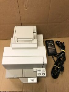 New Out Of Box Epson Tm h5000ii Pos Thermal Printer Check Reader M128c