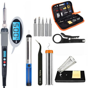 Set Electric Soldering 60w Welding Iron Gun Temp Controlled and Solder Tool Kit