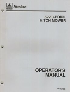 Agco New Idea 522 3 point Hitch Mower Operator s Manual new