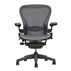 Herman Miller Aeron Office Chair Graphite Size B fully Loaded