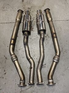 Aam Competition 3 Maxflow True Dual Exhaust For 03 08 Nissan 350z Z33