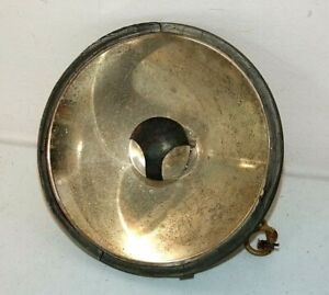 Vintage Headlight Reflector 5 9 16 Diameter Brass C 1930s As is