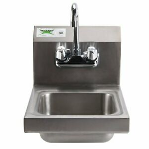 12 X 16 Wall Mount Nsf Hand Wash Sink Restaurant Stainless Steel Commercial
