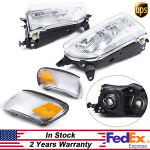 Headlight Signal Lamp Replacement Set For 93 97 Toyota Corolla Left Right Pair