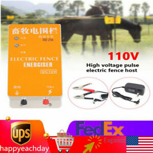 12v Fence Charger Electric Fence Systems Orchards Animal Ranch Energy Controller