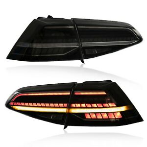 Customized Mk7 5 Style Smoke Full Led Taillights For 16 17 Vw Golf Mk7 Gti