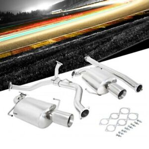 Manzo Usa Catback Exhaust System 4 00 Dual Tip For 05 08 Subaru Legacy 2 5l Gt