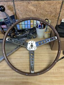 New 1967 Ford Mustang Deluxe Wood Steering Wheel Original Style