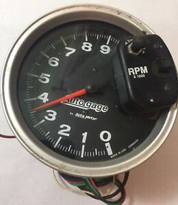 Autogage By Autometer 233903 04 5 Tachometer For 6 Cylinder Made In Usa