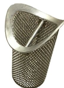 Steel Floor Drain Strainer Basket Catch Trench Style 3 5 X 8 Sifter New read