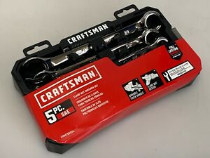 Craftsman Cmmt99334 5 Piece Inch Sae Flare Line Nut Wrench Set 1 4 To 7 8