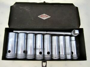 Vintage 1940 S Sk Tools 1 2 Drive Sae Deep Socket Set 11pc Made In Usa