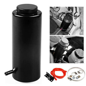 Universal Black 800ml Radiator Coolant Aluminum Catch Tank Overflow Reservoir