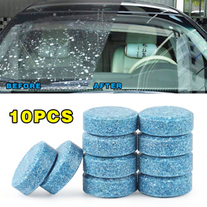 10pcs Car Windshield Glass Washer Cleaner Compact Effervescent Tablets Detergent
