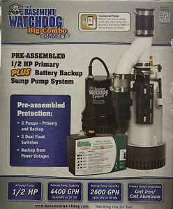 Basement Watchdog Bw4000 1 2 Hp Combination Primary And Backup Sump Pump System