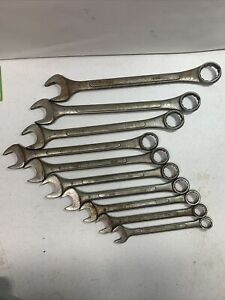 10 Piece Set Of Sae Chrome Vanadium Combination Wrenches 5 8 1 1 4 Taiwan