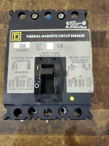 Square D Fal34030 Green Label Circuit Breaker Fa30 A 3 Pole 30 Amp 480 Vac